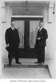 Martin Lacey and Owen Taylor outside their hospital, Auburn, ca. 1920