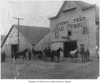 Clark's Livery Stable, exterior, Kent, ca. 1910
