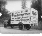 Northern Pacific Railway potato delivery truck, Kent, ca. 1925
