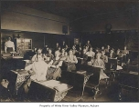 Central School classroom, interior, with students and teacher,  Auburn, October 29, 1909