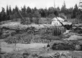 Digester and screening room foundation during construction of the Bloedel, Stewart and Welch kraft...