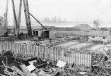 Digester building being built during construction of the Bloedel, Stewart and Welch kraft pulp...