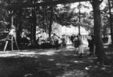 Children playing on swings, probably at Bloedel-Donovan Lumber Mills employees picnic, ca....
