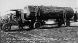 Logging truck with Douglas fir log, Enumclaw, Washington, April 7, 1918