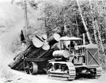 Best tractor hauling logs, Union, Washington, ca. 1924