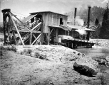 Mining dredge, California, ca. 1901