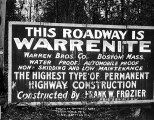 Bothell Road construction sign, Seattle, May 8, 1912
