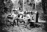 Loggers with cat, probably Pacific Northwest, n.d.