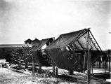 Cod gill nets on drying wheel, Pacific Coast, n.d.