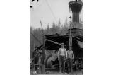Logging crew and donkey engine, possibly the Grassy Bay Timber Co., British Columbia, n.d.