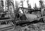 Logging arch and cat for hauling logs, Pacific Coast, n.d.