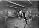 Blacksmith workshop interior, unidentified location