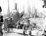 Logging crew and donkey engine, Grays Harbor, Washington