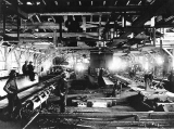 Interior of Puget Mill Co. mill, Port Ludlow, Washington, n.d.