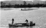 Fishermen dip netting smelt  on the Cowlitz River, Washington, n.d.