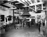 Blacksmith shop, Puget Mill Co., Port Gamble, Washington, December 1918
