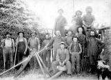 Threshing crew, possibly Troy, Idaho ca. 1891