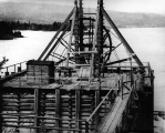 Salmon fish wheel trap at the Cascades, Columbia River, n.d.