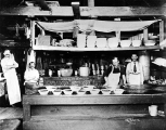 Cookhouse interior, unidentified logging camp, probably Washington, ca. 1900-1930s