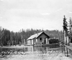 L.R. Gaques floating logging camp, east fork of the Hoquiam River,  August 17, 1898