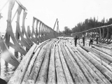 Cradle for constructing Benson log raft on the Columbia River near Stella, Washington, n.d.