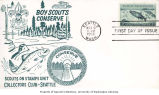 First day issue of Boy Scouts Conserve