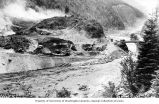 Detroit Dam construction, Santiam River, Oregon, May-June 1949