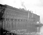 King St. wharf and coal bunkers, Seattle, Washington, July, 28, 1898