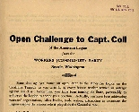 Open Challenge to Capt. Coll
