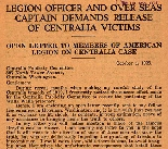 Legion officer and over seas Captain demands release of Centralia victims : an open letter to...