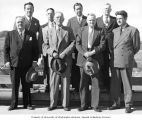Congressman Henry M. Jackson, Hugh B. Mitchell and others at the Grand Coulee Dam, Grand Coulee,...