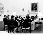 Senator Henry M. Jackson, Secretary of State Henry Kissinger, Secretary of Defense James R....