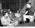 Senator Henry M. Jackson talking with U.S. soldiers at Da Nang Air Base, Lai Khe, Vietnam, ca....