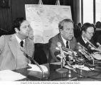 Senator Henry M. Jackson and New Jersey Senator Bill Bradley participating in a hearing on Middle...