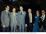 Senator Henry M. Jackson with campaign adviser Brian Corcoran, entertainer Bob Hope, and Mr. and...