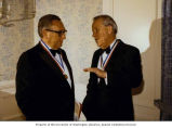 Senator Henry M. Jackson and former Secretary of State Henry Kissinger wearing Alfalfa Club member...