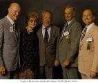 Senator Henry M. Jackson standing with Air Force Association Directors and Convention delegates,...