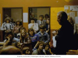 Senator Henry M. Jackson talking to a group of students in a Educational Clinics, Inc. school...