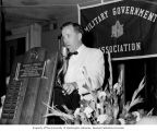 "Senator Henry M. Jackson delivering a speech, ""Forging a National Strategy,"" at the 12th..."