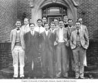 Henry M. Jackson and fellow Delta Chi Fraternity pledges, University of Washington, Seattle,...