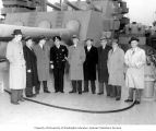 Congressman Henry M. Jackson, Senator Warren G. Magnuson, W.M. Moses, and others touring the...