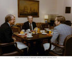 Senator Henry M. Jackson eating breakfast with President Jimmy Carter and Georgia Senator Sam...