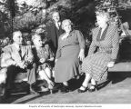 Henry M. Jackson's mother, Marine Jackson, with Mr. and Mrs. Schlumaker and Mr. and Mrs. Paul J....