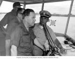 Senator Henry M. Jackson being given a tour of military operations, Bien Hoa Air Base, Bien Hoa,...