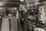 Burton's Men Shop interior with owners Sam Steinberg (left) and Burt Steinberg, 1111 1st Ave.,...