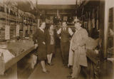 Abraham Steinberg (center) with Dolores Cohen (left) and unidentified man and woman at Steinberg's...