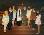 Temple Beth Am confirmation class with Rabbi Norman Hirsh (center), Seattle, Washington, ca. 1971