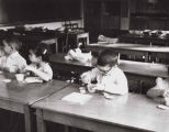 Temple Beth Am nursery school children in class, Seattle, Washington, ca. 1959