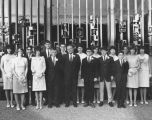 Temple Beth Am confirmation class with Rabbi Norman Hirsh (center), Seattle, Washington, 1965