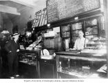 The Husky restaurant and tobacco counter interior, 418 Union St., Seattle, 1936-1941